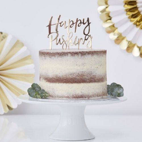 Oh Baby 'Happy Pushing' Cake Topper (each)